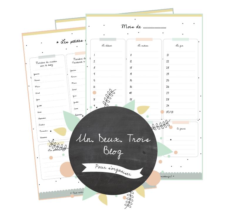 blog planner vie de miettes